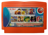 Картридж 18 в 1 18в1 A-18в1 DUCK TALES 1,2+ARIEL MERMAID+CHIP & DALE 1,2+DARKWIN DUCK+90 TANK+CONTRA+SUPER MARIO