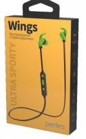 Bluetooth - гарнитура Perfeo WINGS black/green